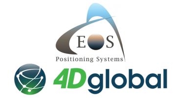 Eos Positioning Systems and 4D Global logo