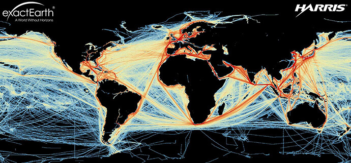 Global vessel tracks