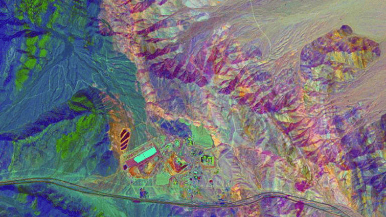 Lithological colour composite image