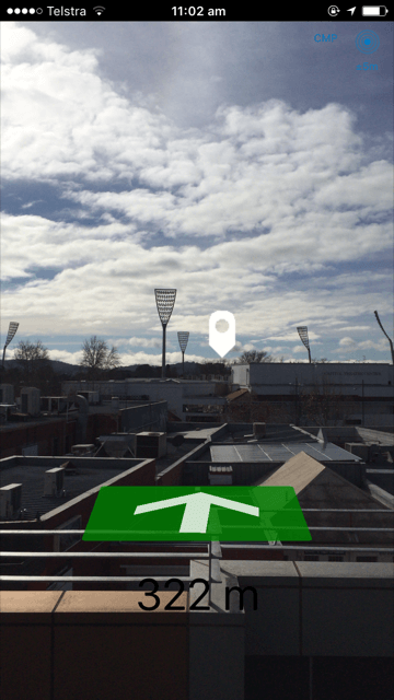 Trek2There – the Augmented Reality compass