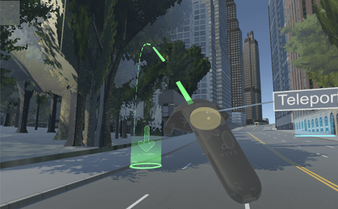 An example of ArcGIS data accessed through the HTC Vive